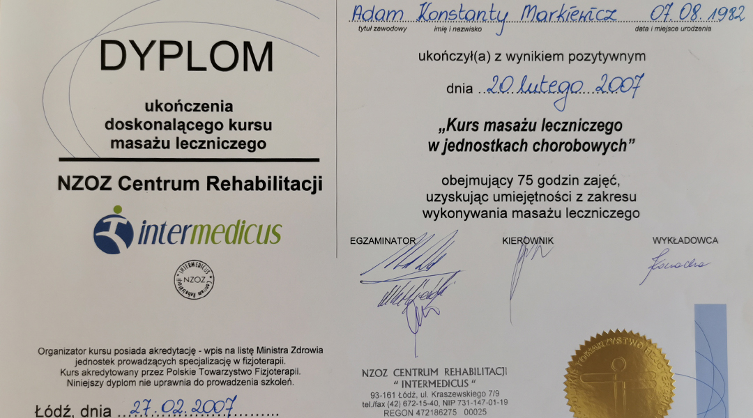 Certyfikaty i dyplomy 14